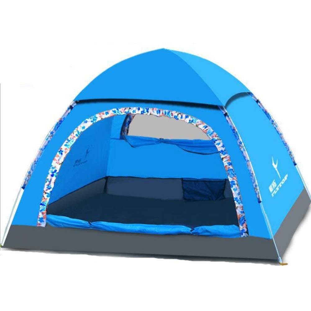 激安通販の 3-4人テント高速オープン自動 B07P5DD3B7、ストレート野生のテント屋外旅行テント : (色 : 青) 青 青 B07P5DD3B7, ニシネチョウ:8f41f5f2 --- ciadaterra.com