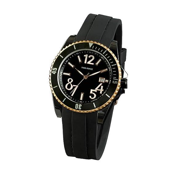 Time Force Reloj Analógico para Mujer de Cuarzo con Correa en Caucho TF4186L15: Amazon.es: Relojes