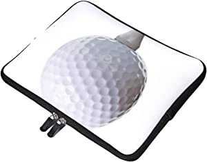 """Yilooom Golf Ball Tee On White Neoprene Soft Sleeve Case for MacBook 12 Inch & MacBook Air 11.6 Inch and Laptop up to 12"""" Ultrabook, Chromebook Bag Cover"""