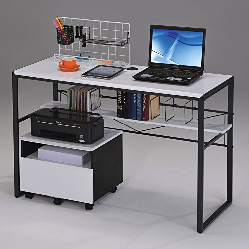 ACME Furniture 92072 Ellis Computer Desk, Black & White