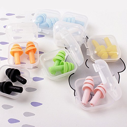 tion Gel Earplugs, Reusable Earplugs for Sleeping Ideal for Sleeping, Studying & Music Concerts(Pair of 4) ()