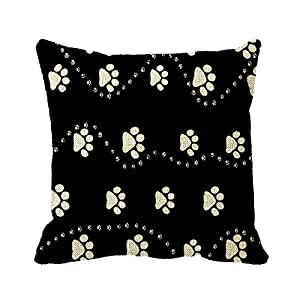 Smity 106 Pillowcase Pet Dogs Cats Pawprint Cushion Cover 18 x 18 Inch