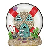 Miniature Dollhouse FAIRY GARDEN - Solar Lifesaver House - Accessories