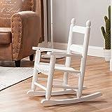Wooden Outdoor Chairs Rocking Kid's Chair Children's Wooden Toddler Patio Rocker Classic KD-20W White - Indoor/Outdoor