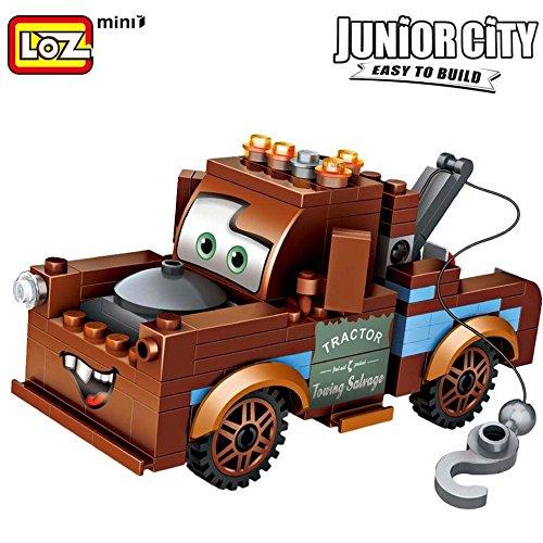 LOZ Mini Block Brickheadz Disney Pixar Cars Movie Characters Tow Mater (Tow Mater Game)