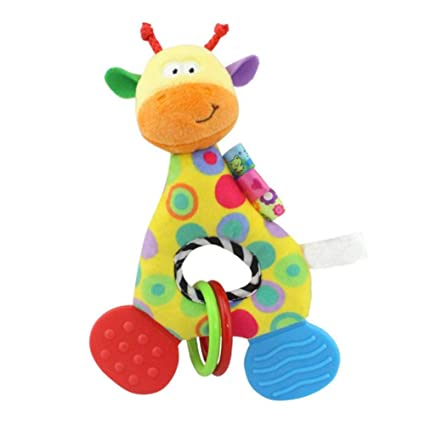 Muñeca de bebé hecha a mano para recién nacido, para niñas y niños, 1 pieza de jirafa
