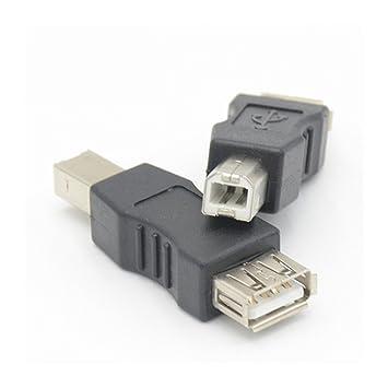 USB 2.0 Tipo A Hembra a USB B Tipo Macho Impresora USB-B ...
