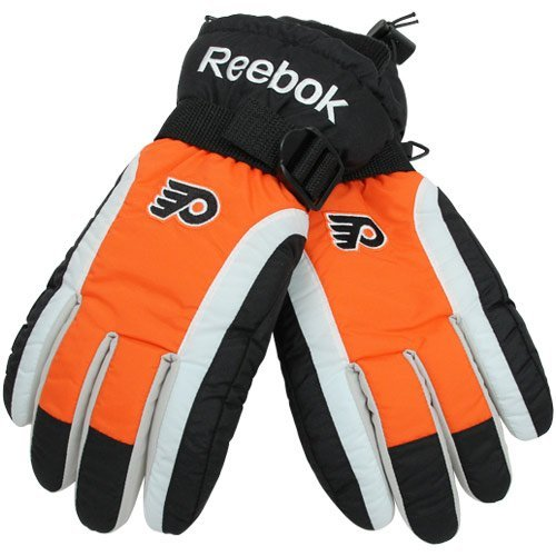Reebok Philadelphia Flyers NHL Color Block Nylon Winter Gloves
