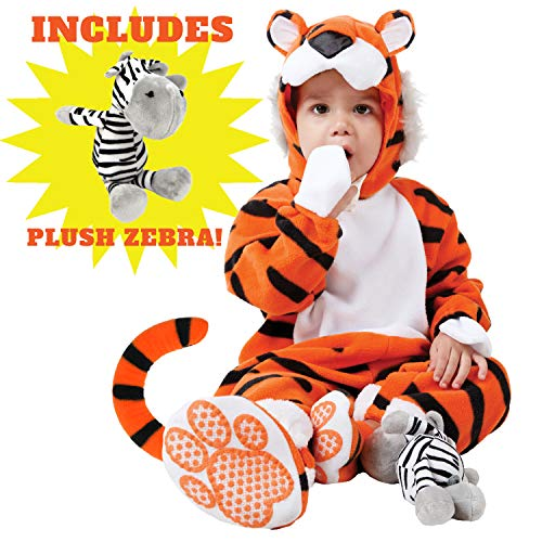 White Tiger Infant Halloween Costume (Spooktacular Creations Deluxe Baby Tiger Costume Set (6-12)
