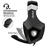 2017-Newly-Updated-USB-Gaming-Headset-SADES-A60OMG-Computer-Over-Ear-Stereo-Headsets-Heaphones-With-Microphone-Noise-Isolating-Volume-Control-LED-Light-BlackWhite-For-PC-And-MAC