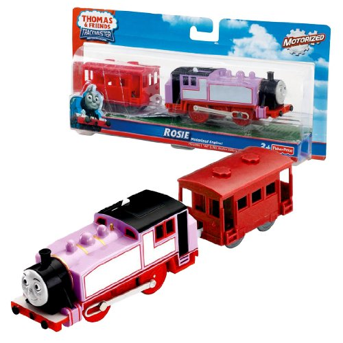 Fisher Price Year 2009 Thomas and Friends Trackmaster Motorized Railway Battery Powered Tank Engine 2 Pack Train Set - ROSIE with Red Brake Van