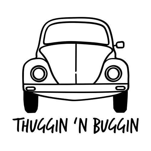 Thuggin' and Buggin' Vinyl Decal Sticker | Cars Trucks Vans SUVs Windows Walls Cups Laptops | Black | 5.5 Inch | KCD2429B
