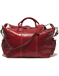 Floto Luggage Venezia Travel Tote, Tuscan Red, Large