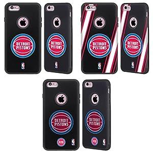 Official NBA Detroit Pistons Black Guardian Case for Apple iPhone 6 Plus / iPhone 6s Plus