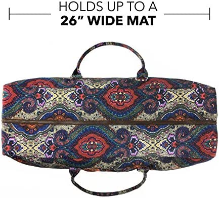 3b2e039eb7 Kindfolk Yoga Mat Duffle Bag Patterned Canvas with Pocket and Zipper  (Celestial