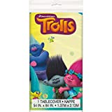 "Trolls Plastic Tablecloth, 84"" x 54"""