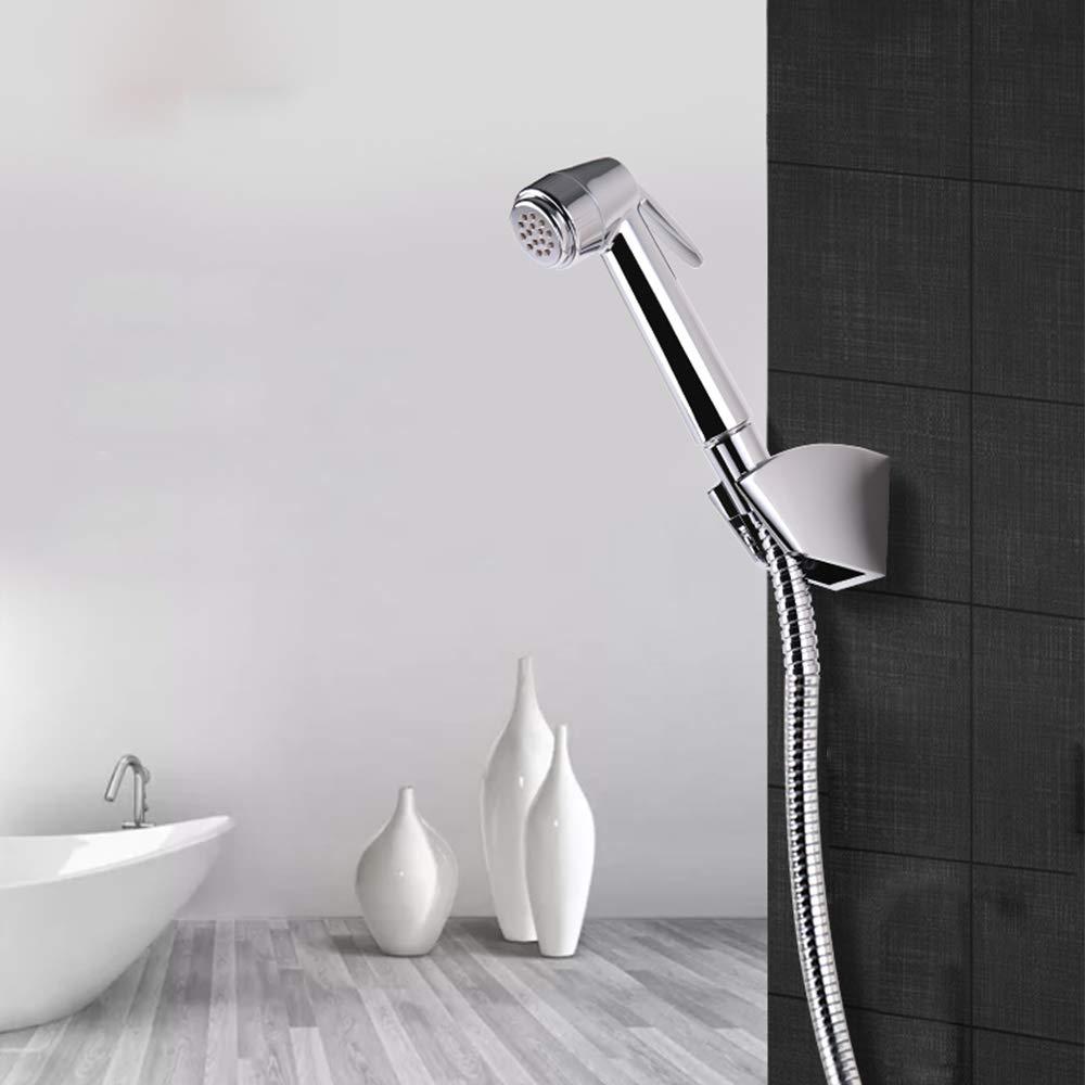 btcus4 Cloth Diaper Sprayer Water Cleaner Bathroom Handheld Bidet Sprayer for Personal Hygiene Cleaning Care Brass Chrome (Chrome)