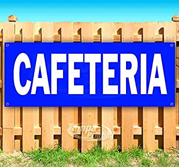 Many Sizes Available Advertising Store New Cafeteria 13 oz Heavy Duty Vinyl Banner Sign with Metal Grommets Flag,