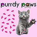 40-Pack Soft Nail Caps for Cat Claws Lipstick Pink Medium Purrdy Paws