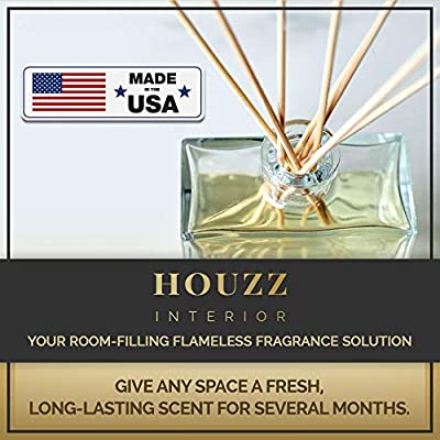 HOUZZ Interior Reed Diffuser Oil Gift Set | Made with Essential Oils & Real Botanicals | Beautiful Home Décor Makes a Great Gift