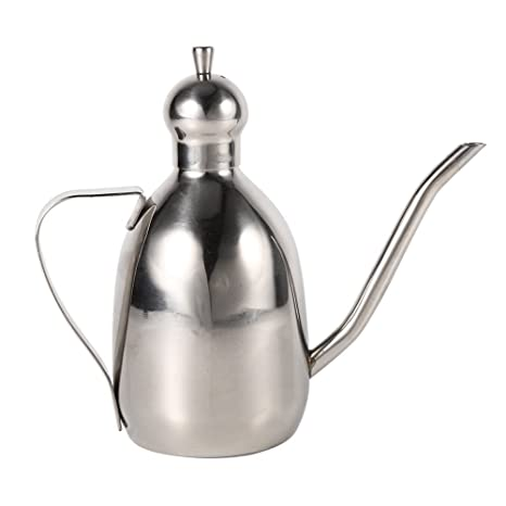 Aceitera/Vinagrera de acero inoxidable 0.35L de aceite de oliva ,dispensador de Pot Botella Inicio Cocina Uso caliente