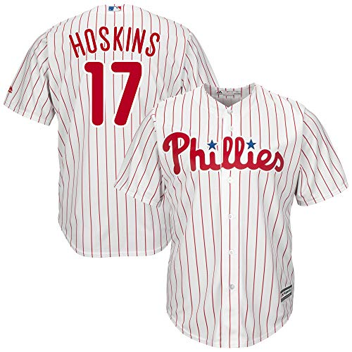 (Outerstuff Youth Kids Philadelphia Phillies 17 Rhys Hoskins Player Baseball Jersey White Size 8 S)