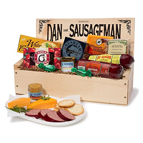 Dan the Sausageman's Favorite Gourmet Gift Basket -Featuring Dan's Original Sausage, Seabear Smoked Salmon, 100% Wisconsin Cheeses, and Dan's Sweet Hot Mustard by Dan the Sausageman
