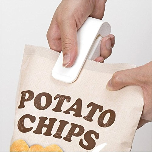 UNKE Bag Heat Sealer,Portable Mini Heat Sealing Machine Impulse Food Packing Plastic Bag Sealer