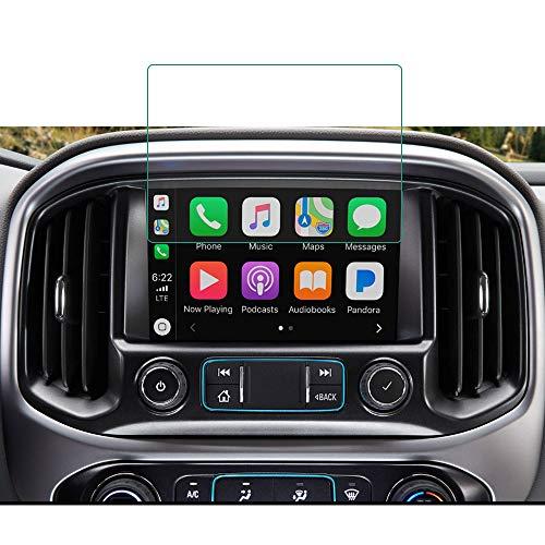 BUENNUS 8 Inch Navigation Glass Protector for Chevy Silverado 1500 2500HD 3500HD Colorado LT Z71 ZR2 WT 2019 2018 2017 2016 2015 Interior Accessories for Chevrolet Silverado Colorado MyLink Screen