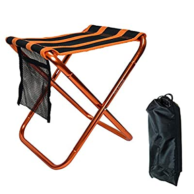 Farbetter Mini Camp Stool, Folding Camping Stool Chair with Storage Pouch, Lightweight Camping Stool, Portable Outdoor Chairs with Carry Bag for Fishing BBQ Garden Travel Camping Hiking: Clothing