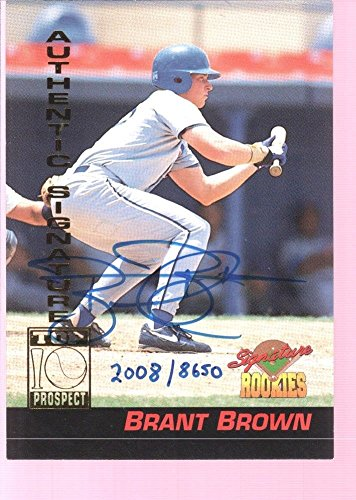 BRANT BROWN 1994 SIGNATURE AUTOGRAPH AUTO ROOKIE RC MINT CUBS /8650 $12