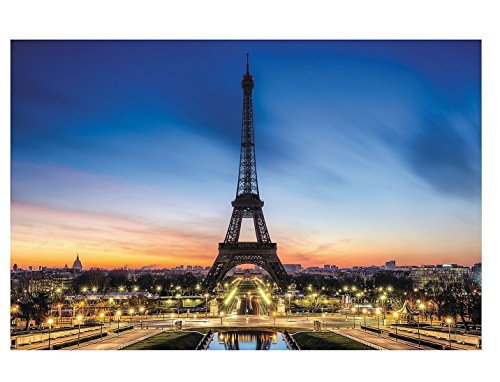 French Party Decorations (Eiffel Tower Backdrop Banner (9 Ft. X 6 Ft.) Evening in Paris by Fun Express)