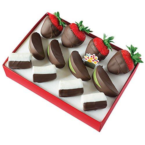 Edible Arrangements Chocolate Dipped Strawberries  Apples   Bananas Box