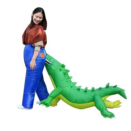Disfraz de safari de cocodrilo inflable para adulto: Amazon.es: Hogar