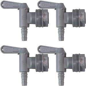 Gray Bottling Spigot Premium Plastic Faucet for Homebrew Fermentation Bucket Spout - 4 Pack Bucket Spigot by LUCKEG