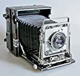 GRAPHEX CROWN GRAPHIC GRAFLEX 4 X 5 CAMERA WOLLENSAK 135MM OPTAR F 4.7 W/ 3 4X5