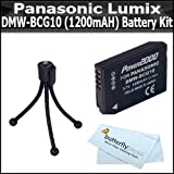 Battery Kit For Panasonic Lumix DMC-ZS7 DMC-ZS10, DMC-ZS8, DMC-ZS9, DMC-3D1, DMC-ZS20, DMC-ZS15, DMC-ZS25, DMC-ZS25K Digital Camera Includes Extended Replacement Panasonic DMW-BCG10 (1200mAH) Lithium-Ion Battery + Mini Flexible Tripod + MicroFiber Cloth