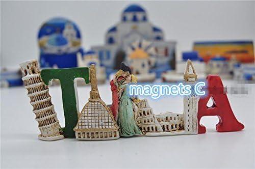 La Torre Inclinada De Pisa en Venecia, Italia imanes de nevera ...
