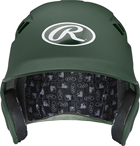 Rawlings Velo Series Alpha Sized Batting Helmet, Matte Dark Green, (Collegiate Batting Helmet)