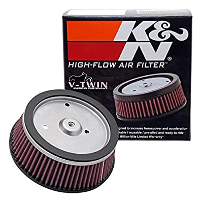 K&N Engine Air Filter: High Performance, Premium, Powersport Air Filter: 2001-2008 HARLEY DAVIDSON (Screamin Eagle, Dyna, Road King, Ultra Classic Electra Gli, and other select models) HD-0800: Automotive