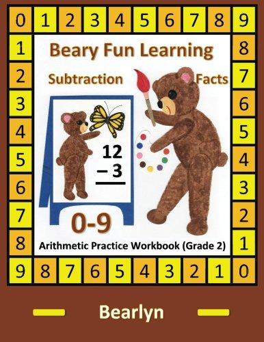 beary-fun-learning-subtraction-facts-0-9-arithmetic-practice-workbook-grade-2-al-bear-einstein-math-