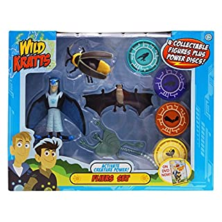 Wild Kratts - Activate Creature Power - 4-Pack Action Figure Set - Fliers