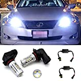 iJDMTOY (2) Xenon White 80W 9005 CREE LED High Beam Daytime Running Light Kit For Lexus Toyota