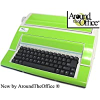 Portable Typewriter in Vibrant Green Color with Standard Office Keyboard Designed in America by Around The Office … Great Holiday Gift Idea.