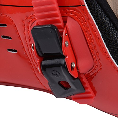 SIDEBIKE SD-001 Road Cycling Shoes,Pls choose one size larger than usual Upgrade-Red Black