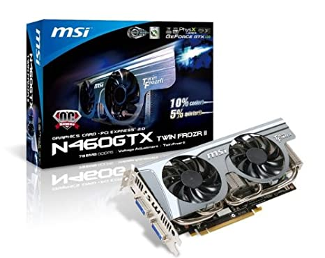 MSI Geforce 460GTX 768 MB DDR5 PCI-Express 2.0 Graphics Card Twin Frozr II SOC