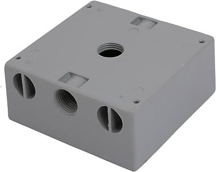 Aexit 1 / 2BSP 3 orificios roscados Recuadro de la caja de tomacorrientes de empalme eléctrico (model: C5902VIX-2404DH) de doble unidad: Amazon.es: Bricolaje y herramientas