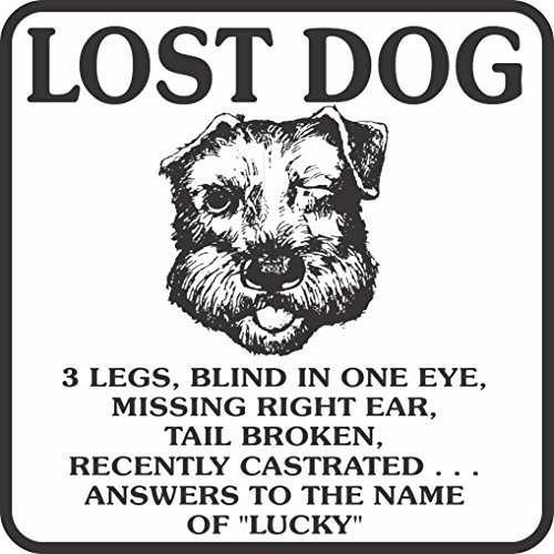 Lost Dog - Lucky Novelty Metal Sign / Plaque - 12x12 inch ()
