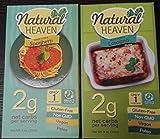Low Carb Pasta, Natural Heaven Pasta Spaghetti Hearts of Palm - 3 x 9 oz and Low Carb Pasta, Natural Heaven Lasagna Noodles Hearts of Palm - 3 x 9 oz