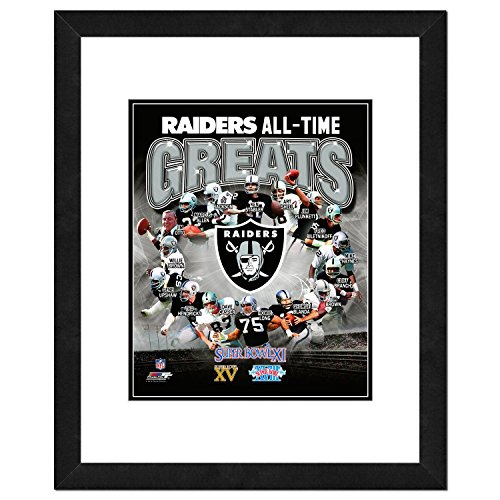 Oakland Raiders Ken (NFL Oakland Raiders Men's All Time Greats Framed Photo, One Size, Multicolor)